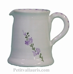 LITTLE CERAMIC MILK POT WITH LAVANDER FLOWER DECOR
