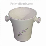 ICE BUCKET CERAMIC DECOR FLEURS DE LAVANDE DECORATION