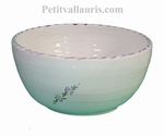 SALAD BOWL SMALL SIZE WITH LAVANDER FLOWER DECOR
