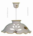 SUSPENSION CERAMIC WITH MIMOSAS & LAVANDER DECOR D33 CM