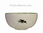 SALAD BOWL SMALL SIZE WHITE COLOR BLACK OLIVE DECOR