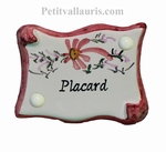 PARCHMENT CUPBOARD PLAQUE PINK FLOWERS BEDROOM INSCRIPTION