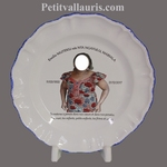 FAIENCE PLATE MODEL WITH PHOTO CUSTOMIZED CIMETERY MEMORY