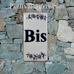 PLAQUE BIS AU DETAIL DECOR TRADITION MOUSTIERS BLEU