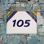 CUSTOMIZED ENAMELLED HOUSE PLAQUE WITH RAINBOW FLAG