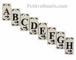 HOME LETTER OR NUMBER PLATE WITH ARROW & BLACK OLIVES DECOR