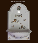 FAIENCE HAND WASHING FOUNTAIN MOUSTIERS TRADITION DECORATION