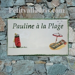 CERAMIC HOUSE PLAQUE FAIENCE WITH CUSTOMIZED FAMILY PATERN