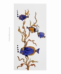 TILE PICTURE TROPICAL FISHS DECORATION ON LARGE TILE 60 X 30