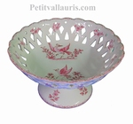 PERFORATE CUP ON FEET PINK OLD MOUSTIERS DECOR  DIAMETER 30