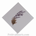 LAVANDER DECORATING ON DIAGONAL RIGHT FAIENCE TILE SIZE 2