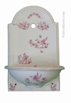 FAIENCE HAND WASHING FOUNTAIN PINK MOUSTIERS TRADITION DECO