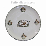 CERAMIC PLATE ROUND MODEL WITH OLD MOUSTIERS DECORATION (A)