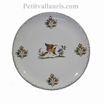 CERAMIC PLATE ROUND MODEL WITH OLD MOUSTIERS DECORATION (B)