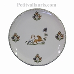 CERAMIC PLATE ROUND MODEL WITH OLD MOUSTIERS DECORATION (C)