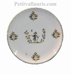 CERAMIC PLATE ROUND MODEL WITH OLD MOUSTIERS DECORATION (F)